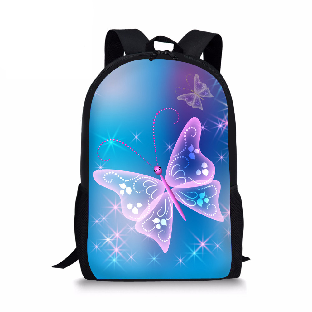 Beauty Butterfly 2018 Children Primary School Bags Kids Backpack For Teenagers Girls Knapsack Orthopedic 3d Printing