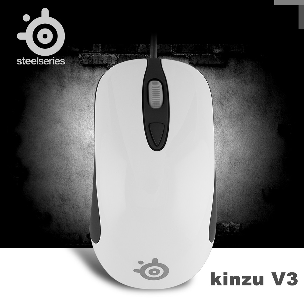 Free shipping Original SteelSeries Kinzu V3 Gaming Mouse Mice USB Wired Optical 2000DPI Steelseries Mouse qisan x1 wired usb gaming led 800 1600 2000dpi gaming mouse black