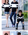 Matching Mother and Daughter Clothes Cute Hoodies Cotton Striped Plus Size Summer Family Look Set for Girls Retail 2015 MB7
