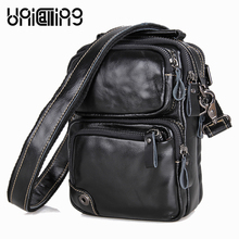 Messenger bag men leather leisure real cow phone/wallet/accessories holder crossbody hot sale shoulder messenger