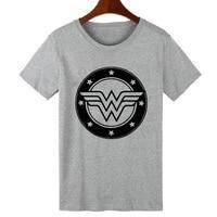 Pkorli Comic Wonder Woman Printed T Shirt Women Punk Rock Princess T Shirt For Lady Girls