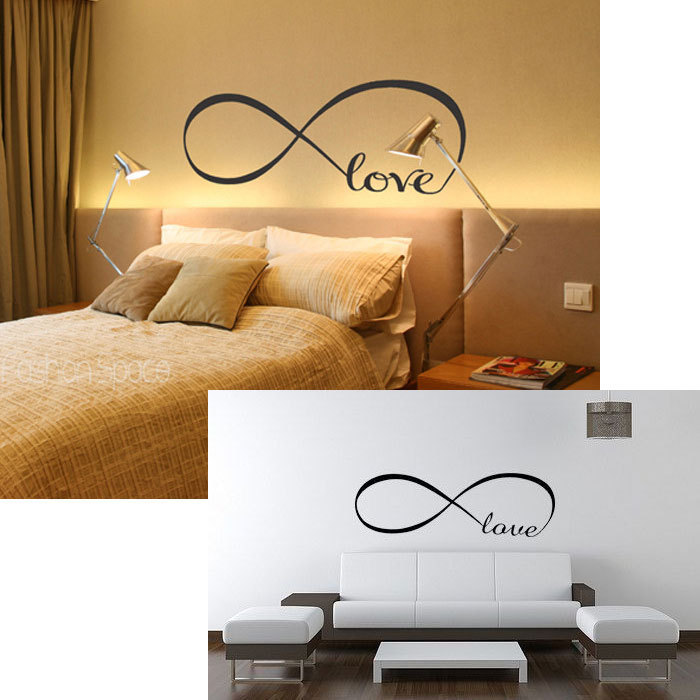2016 love infinity decorative wall sticker words art