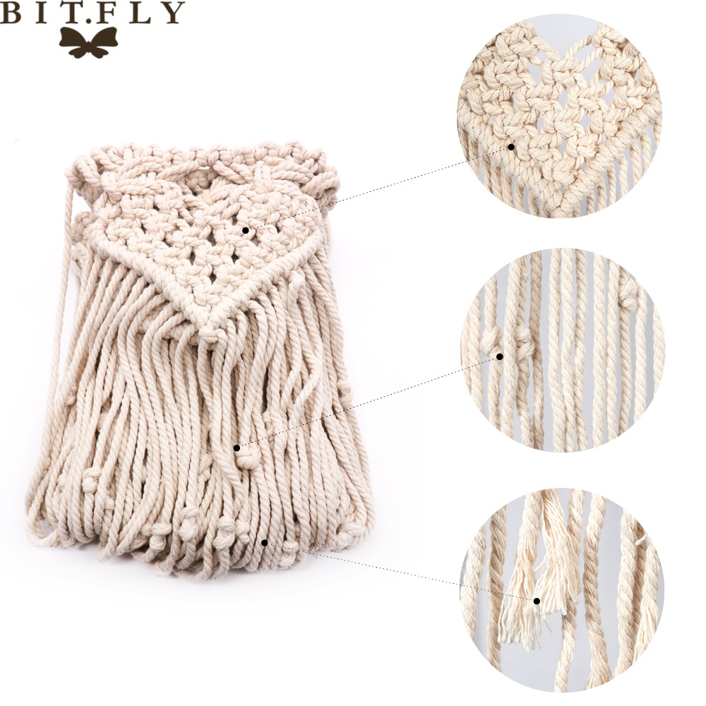 47*35Boho Background curtain wedding Decoration Party Photo Booth Cotton Rope Tassel Curtain for Home Room Wall Hanging Dec