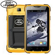 """(24 часа доставка) подарок! Guophone V12 4000 мАч водонепроницаемый противоударный 5.0 """"Android 4.4 GPS MTK6572 5MP открытый 3 г мобильных телефонов"""