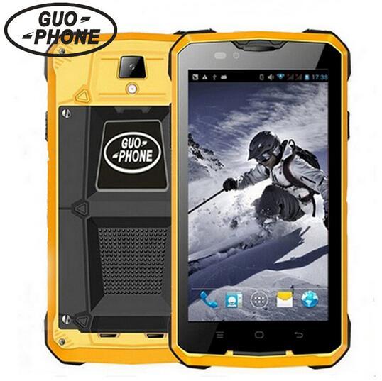 bilder für Guophone V12 Smartphone wasserdichte 4000 mAH stoßfest 5,0 zoll Android 4.4 GPS MTK6572 Dual Core 5MP außen 3G Handys