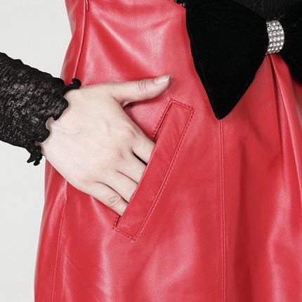 Dress Robe De Black Cuir P1 Mode Vest 2019 Dress red Mince En xPHwqPaX