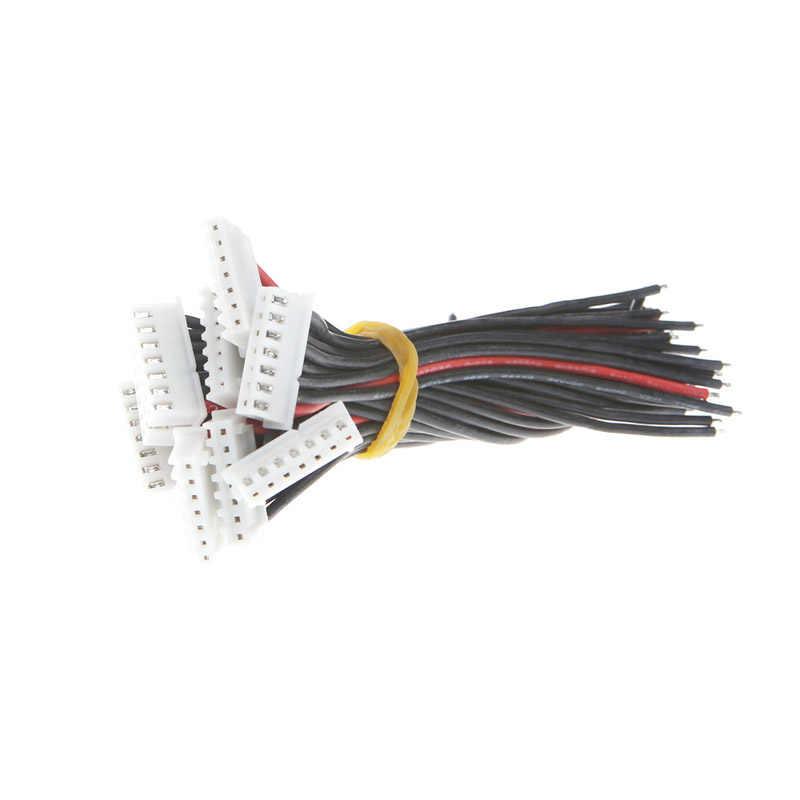 Câble de chargeur d'équilibre de batterie de Preety 6S1P Lipo 22 AWG fil de silicium JST XH Cnnector 10CM