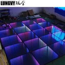 1 м* 1 м RGB полноцветный светодиодный зеркальный танцпол 3D танцевальная площадка Свадебная Дискотека декоративный предмет со светодиодной подсветкой концертная сцена
