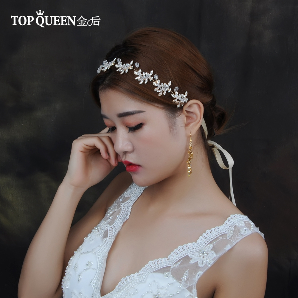 TOPQUEEN HP107 Wedding Tiara Bridal Headband Wedding Hairband Wedding Hair Accessories Bridal Headwear Wedding Headwear