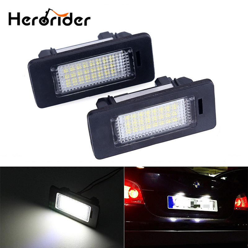 Error Free Car Led License Plate Led Light Lamp 12v White 6000K For BMW E39 E60 E82 E90 E92 E93 M3 E39 E60 E70 X5 E60 E61 M5 E88 2pcs pair 24 led license plate led light lamp white 6000k error free for bmw e39 m5 e70 e71 x5 x6 e60 m5 e90 e92 e93 m3 525i