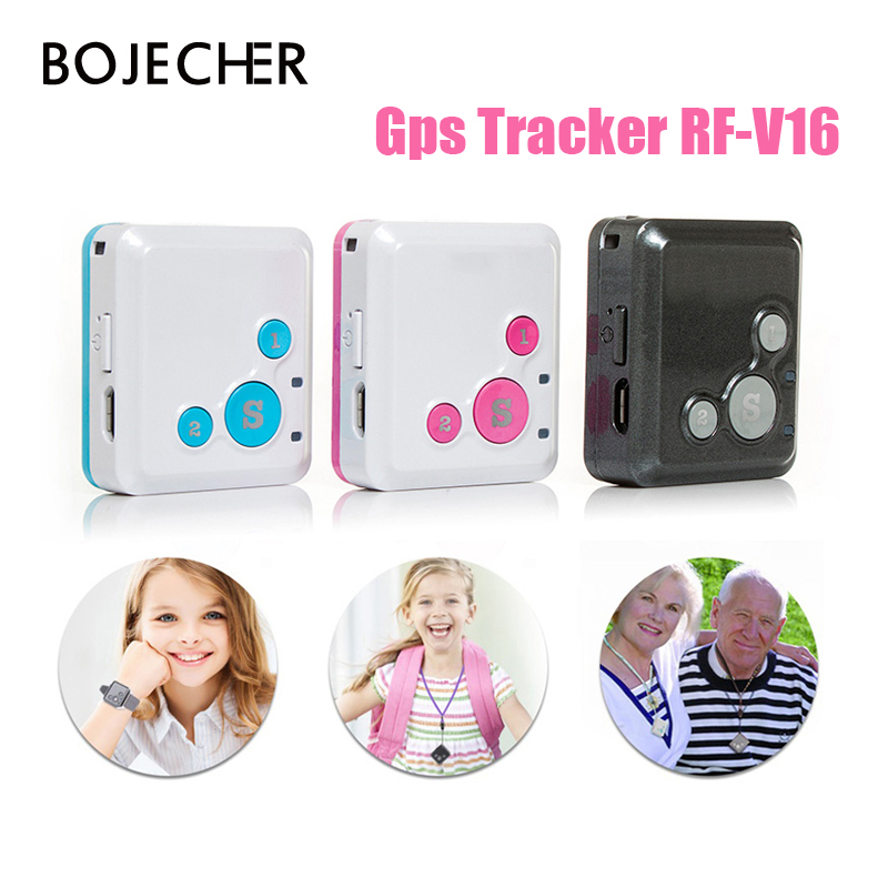 Mini Personal Kids Child GSM GPRS GPS Tracker RF-V16 SOS Communicator 7 Days Standby Voice Monitoring Lifetime Free Tracking