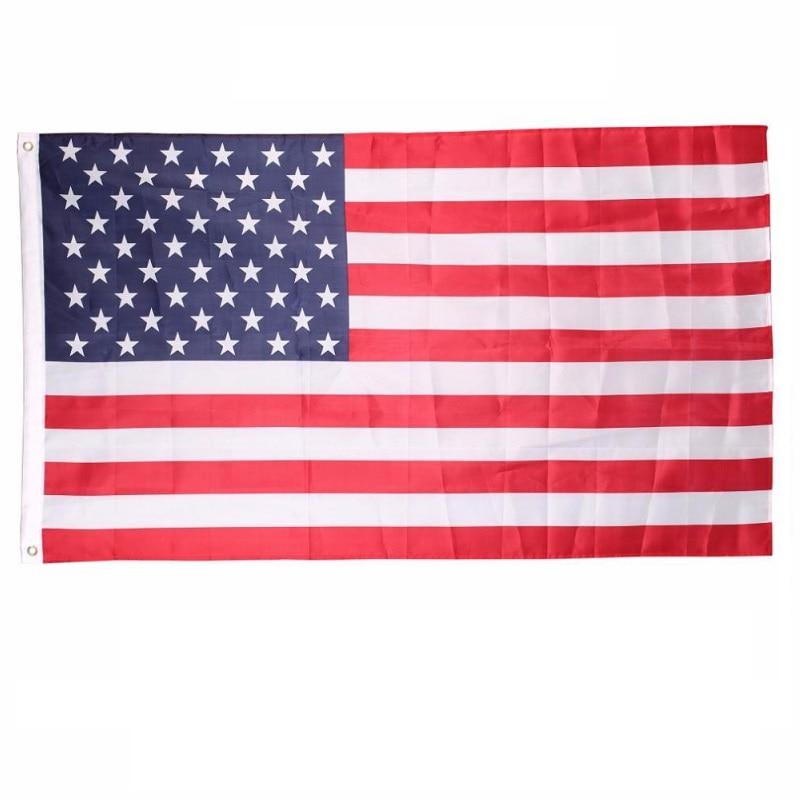 Estados unidos EUA Bandeira Nacional Novo 90 150 cm de Poliéster Bandeira  Estrelas Faixa de Patriotismo Fornecimento de Atividade de Decoração Para  Casa ... 744aae5209f6c