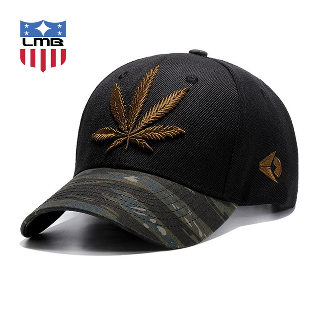 89209f27611 LMB Brim Printing Weed Geometric Embroidery Unisex Polyester Cotton Women Baseball  Caps Summer Fashion Snapback Dad Hat For Men