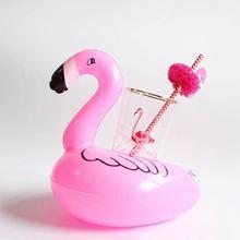 Мини надувной фламинго, единорог, Пончик, бассейн, плавающие игрушки, поплавок для напитков, держатель чашки, плавательное кольцо вечерние ч...