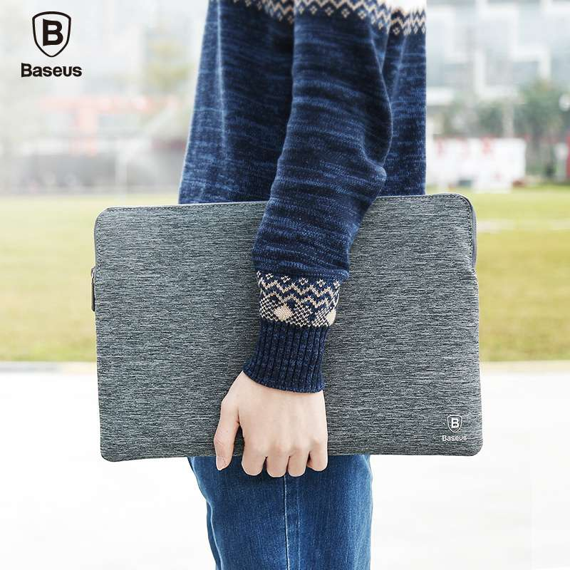 BASEUS Brand Durable Polyester Fabric Laptop Bag for 15 / 13 inch or under Tablet For New Mackbook For Samsung / Asus/ Surface