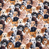 105X100cm A Pack Of Dogs Full Print Cotton Fabric For Baby Boy Clothes Bedding Set Sewing