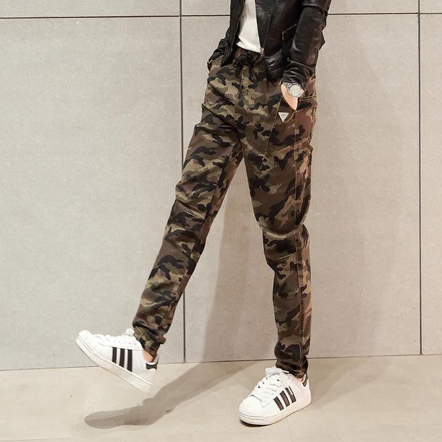 Baratos Por Atacado de Alta Qualidade Calças de Camuflagem Mulheres Camo Pantalon Femme calças de Camuflagem Harém