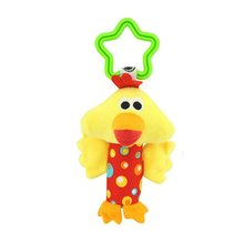 Plush Toys Bed Baby Mobile Hanging Baby Rattles Toy Giraffe With Bell Ring Infant Teether Toys Gift(China)