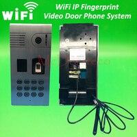 Wifi IP Fingerprint Rfid Video Door Phone Intercom Metal Outdoor Doorbell With Rfid Code Keypad Access
