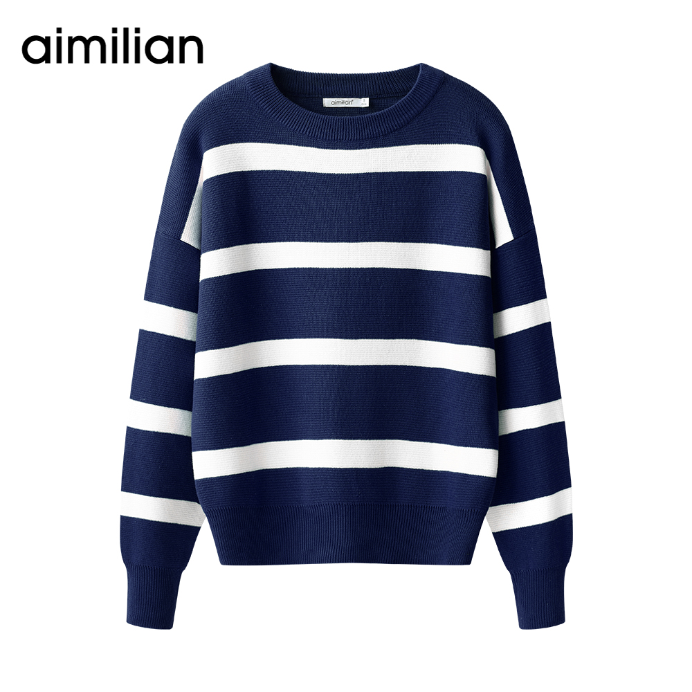 Online Buy Wholesale blue white striped sweater from China blue ...