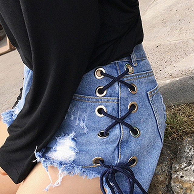 Lace-up Shorts for Women