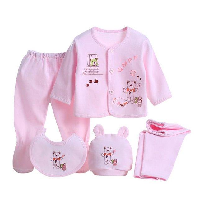 5pcs Baby Clothes Set 0 3 Months Newborn Baby Clothing Set Baby Boy
