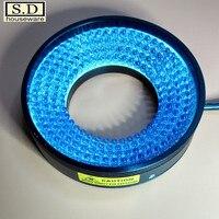 Светодиодный машины видения света 48 мм кольцо источник света Светодиодный промышленное освещение Синий Регулируемый Яркость низкая тепло
