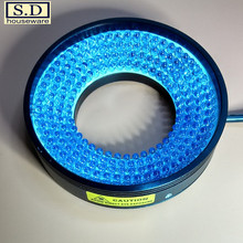 LED Machine Vision Light 48mm Ring Source Industrial Lighting Blue Adjustable Brightness Low Heat Long Life Microscope