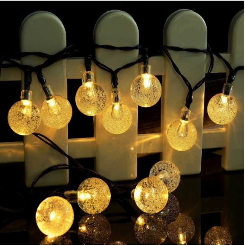 Solar Lamp Crystal Ball Waterproof Colorful Fairy Outdoor Solar Light Garden Christmas Party Holiday Decoration String Lights