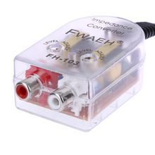 Car Speaker to RCA Level Adaptor High to Low Sockets Auto Line Out Audio Comverter Sound Subwoofer Amplifier