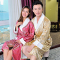 Women's Sleep Lounge Top Brand Women Bathrobes Silk and Bamboo Bathrobes