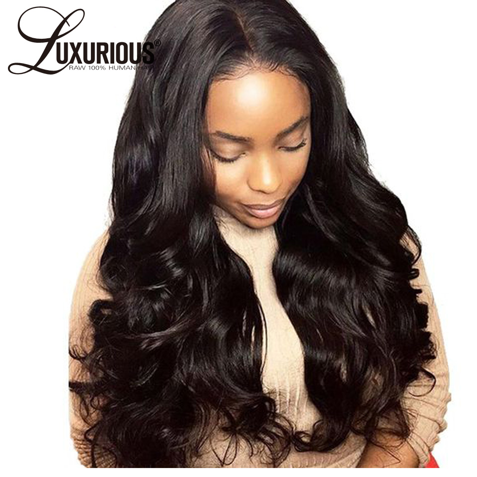 150% Density Body Wave Silk Base Full Lace Human Hair Wigs Brazilian Remy Hair Silk Top Wig With Baby Hair Natural Hairline