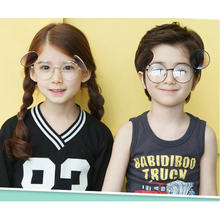 MINCL/ New fashion retro children sunglasses personality round frame sunglasses playful double lens flip glasses with box FML(China)