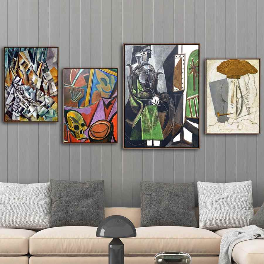 Home Decoration Print Canvas Art Wall Pictures Poster Canvas Printings Paintings Spanish Pablo Picasso Friendship