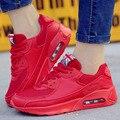 Большой Размер 35-45 Мужская Повседневная Обувь Воздухопроницаемой Сеткой Воздуха Спортивные Кроссовки Мужчины Суперзвезда Тренеров Zapatillas Красный Дно отдых