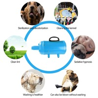 Shetland S19 Stepless Adjustable Speed Dog Grooming Dryer Cheap Pet Hair Dryer Blower 2200W EU/US Plug Black/Blue Color