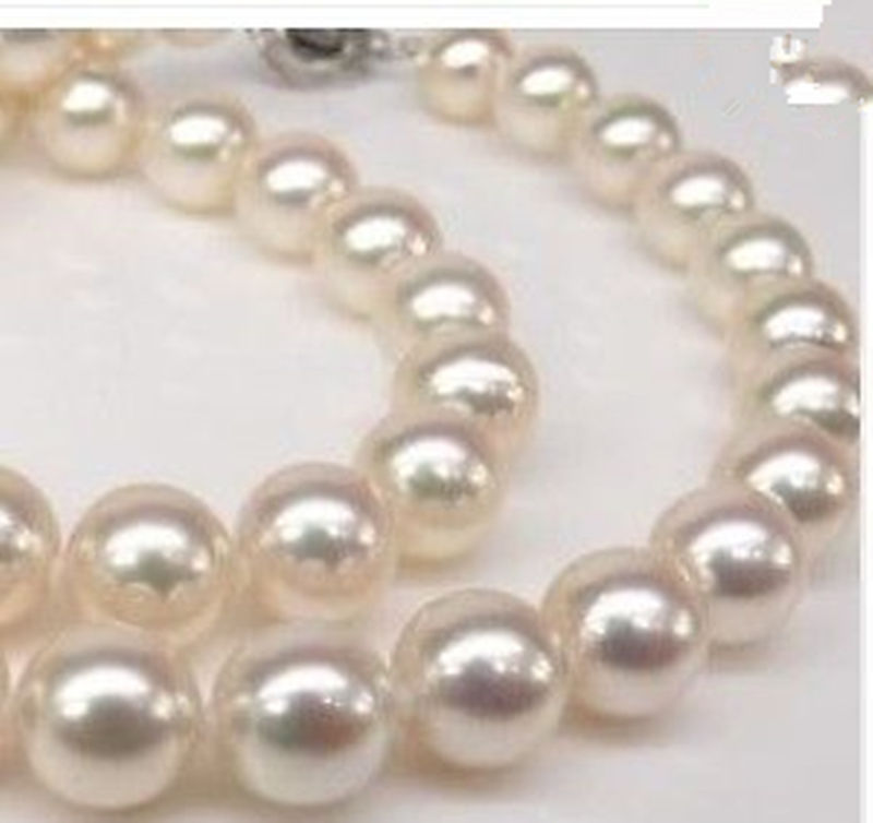 Selling jewerly >Genuine AAA 8mm WHITE south sea AKOYA SHELL PEARL NECKLACE 18