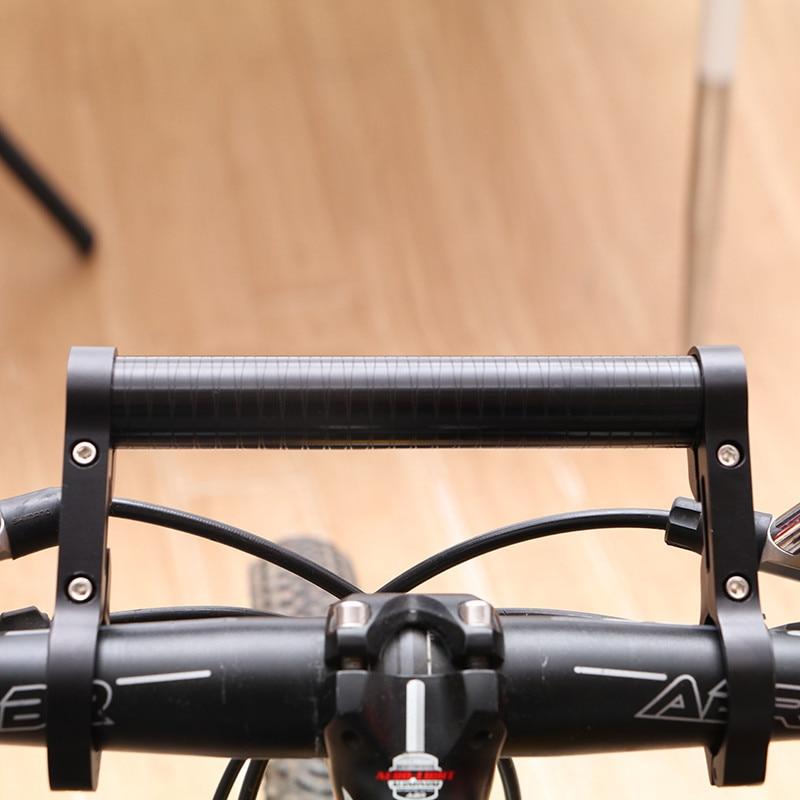 MTB Bicycle Bike Handlebar Extension Flashlight LED Phone Holder Extender Mount