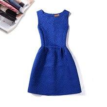 Joker Solid Jacquard Fabric Dress Sleeveless Waist Backing dress 7 Color 5size S-XXL