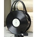 The new Japanese original SuFeng circular disc record tide restoring ancient ways female inclined shoulder bag handbag woman