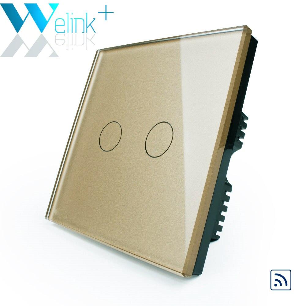 WeLink Interruptor Remoto, 2 Gang, Casa inteligente Interruptor de La Luz, Casa