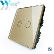 WeLink Distant Swap, 2Gang, Sensible Residence Gentle Swap, RF Residence Swap UK with mini Distant Controller Wall Swap Contact Glass