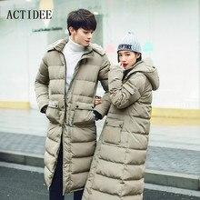 Для мужчин с хлопковой подкладкой зимние пальто пары платье подпушка длинные зимние куртки верхняя одежда