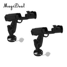 MagiDeal 2 Pcs Tahan Lama Kuat Nylon Fishing Rod Holder Rack Mount Bracket Tiang Istirahat Berdiri & Basis Screw untuk Kayak Kano Perahu Yacht