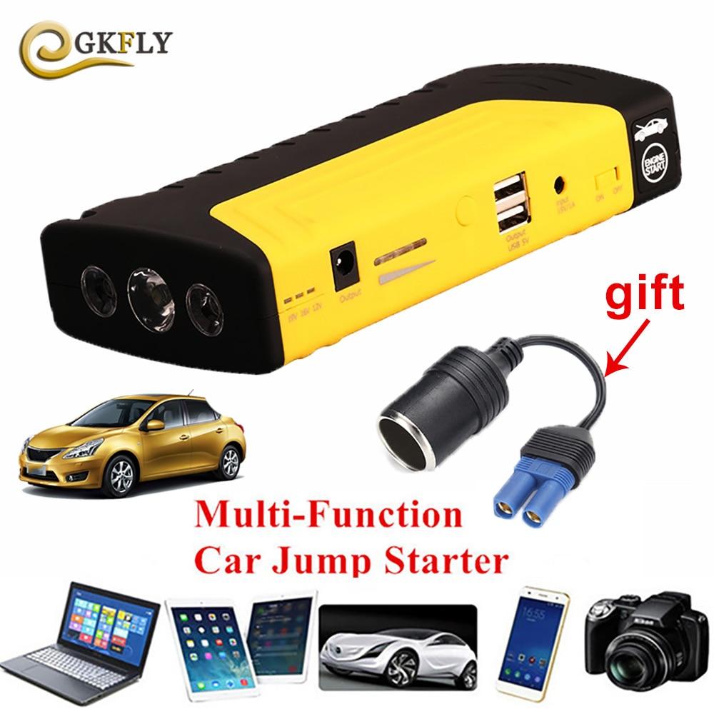 Notfall Jump Starter 12 v 600A Spitzen Auto Batterie Booster Pack Batterie Ladegerät Mit Gewöhnlichen Schellen Und Vier in Einem USB Kabel