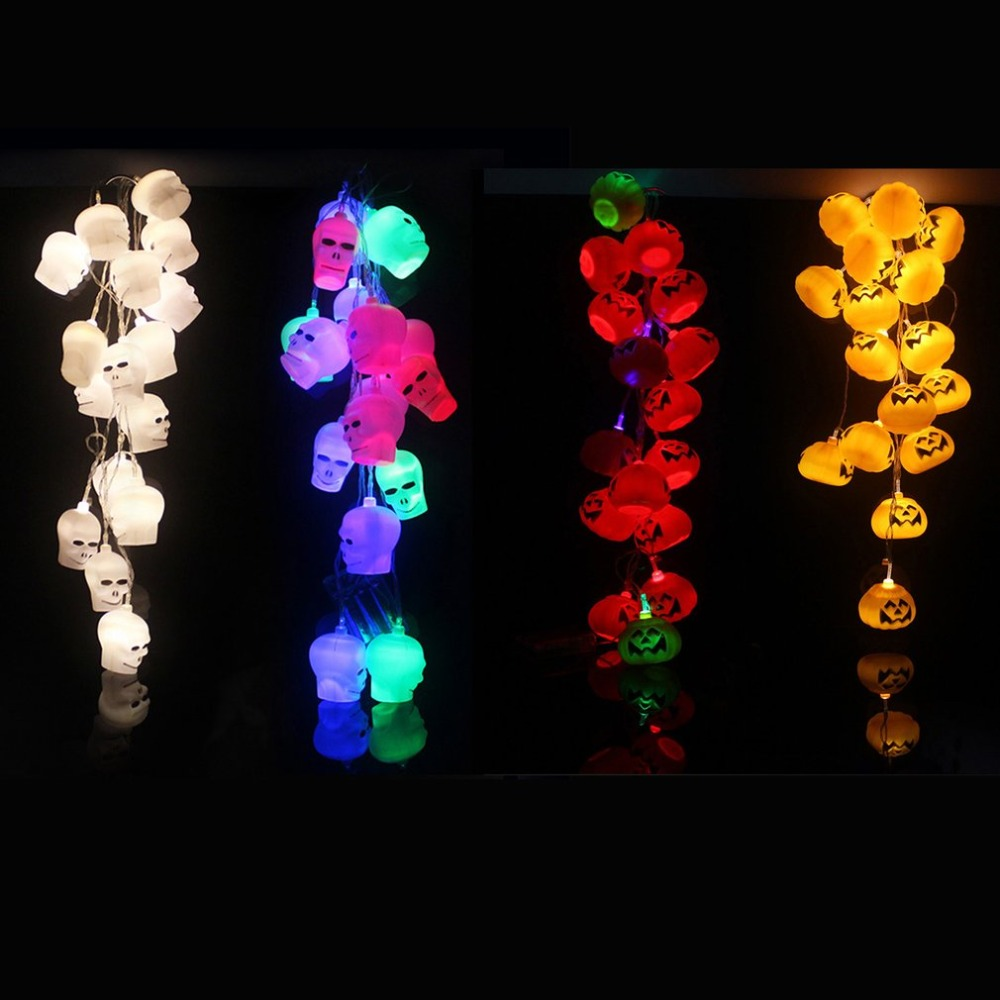 Battery Power Supply 3D Shape LED String Lights Halloween Holiday Indoor Home Decoration Energy-saving Lantern Lights