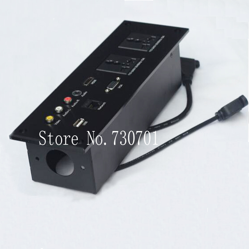 Hotel wall junction box multifunction desktop socket desktop information box multimedia socket usb vga audio socket information searching and retrieval