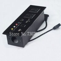 Hotel Wall Junction Box Multifunction Desktop Socket Desktop Information Box Multimedia Socket Usb Vga Audio Socket