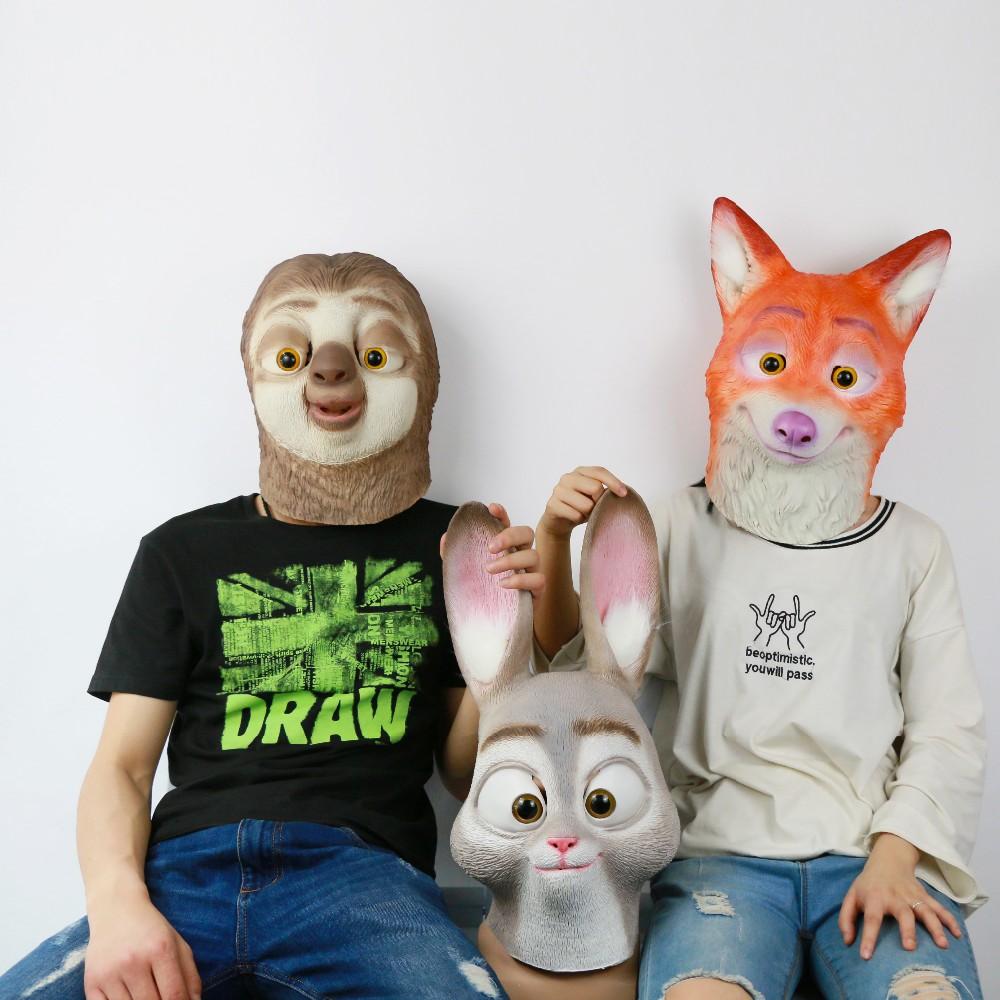 2016 Movie Cosplay Zootopia Flash Mask Latex Flash Helmet Judy Hopps Halloween Costume Prop Accessories8