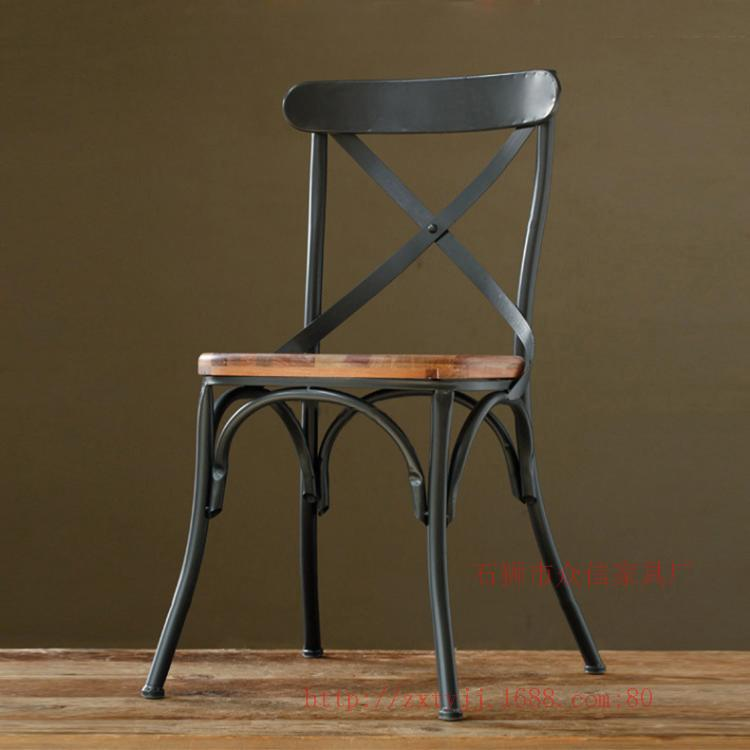 Loft american country to do the old retro furniture for Wrought iron cafe chairs